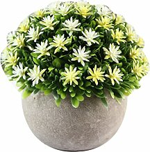 Zhhlaixing Artificial Potted Plant for Home Decor Flowers and Grass