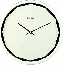 Zhhlaixing Chic Simple Style Wall Clock Home Metal Round Wall Clock Decoration