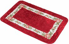 Zhhlaixing Home Soft Non-slip Rectangle Floor Rug Pastoral Roses Livingroom Bathroom Absorbent Carpe