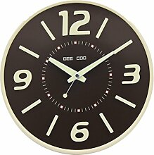 Zhhlaixing Stylish Home Decoration Classic Luminous Mute Round Wall Clock GK110243