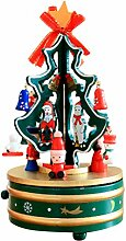 Zhhlaixing Weihnachten Tree Music Box Wooden Rotating Music Box With Decorations Creative Gifts