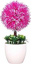 Zhhlinyuan Künstliche Blume Zierpflanze Schneeball blumen Simulation Bonsai Baum Geeignet für Restaurant Wohnzimmer Innen Büro Dekor