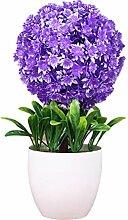 Zhhlinyuan Künstliche Pflanze Schneeball Blume