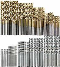 ZHHO 100 PC/Set Titanium Coated Spiralbohrer