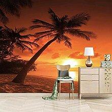 ZHHSJJ Moderne 3D Fototapete Sonnenuntergang