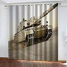 ZHHSJJ Verdunkelungsvorhang Panzer Gardinen