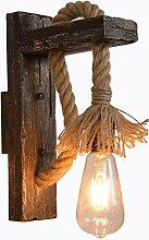 ZHICH Vintage Creative Wood Wandlampe, Rustikal
