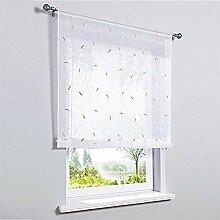 ZHICHUAN Stickerei Fenstervorhang Store Voile
