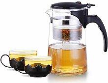 ZHIFENCAO Glasteekanne Elegante Glas Teekanne mit