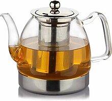 ZHIFENCAO Glasteekanne Gusseisen Teekanne Glass