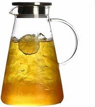 ZHIFENCAO Glasteekanne Teekanne Liter Karaffe Glas