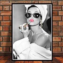 ZHINING Plakate und Drucke Klassische Audrey