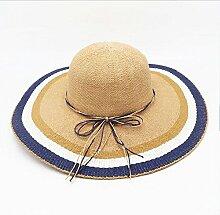 ZHIRONG Visier-Hut-bequeme und breathable orange Kante, orange-grüner Rand, roter Rand, blauer Rand-Sonnenschutz-UVschutz schöne Mode (Farbe : A)
