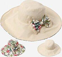 ZHIRONG Visier Hut Doppelseitige Kleidung Sonnenschutz UV-Schutz Faltbar Und Tragbar Schön Und Modisch (Farbe : B)