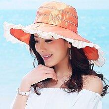 ZHIRONG Visier Hut Kühl Und Atmungsaktiv Faltbar Und Tragbar Sonnenschutz UV-Schutz Schön Und Stilvoll (Farbe : B)
