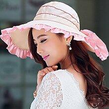 ZHIRONG Visier Hut Kühl Und Atmungsaktiv Faltbar Und Tragbar Sonnenschutz UV-Schutz Schön Und Stilvoll (Farbe : C)