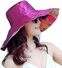 ZHIRONG Visier Hut Leicht Und Atmungsaktiv Sonnenschutz UV-Schutz Faltbar Und Einfach Zu Tragen Schön Und Stilvoll (Farbe : E)