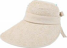 ZHIRONG Visier Hut Verschiedene Arten Zu Tragen Sonnenschutz UV-Schutz Faltbar Und Tragbar Schön Und Modisch (Farbe : D)