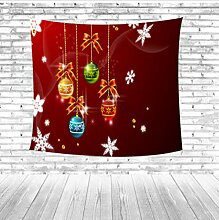 zhj888 Weihnachten Tapisserie Brief Baum Cartoon