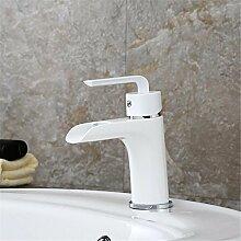 ZHLONG Mode High-End-Ware Centerset antike heiß und kalt Einlochmontage Kupfer Armaturen Waschbecken Classic Farbe Weiß mischen Badarmaturen