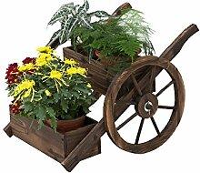ZHLRACK Blumenständer Kleiner Blumenwagen