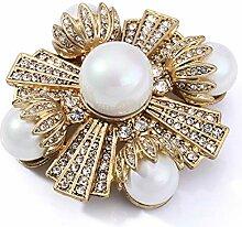 Zhongsufei Frauen Elegante goldene Birne Brosche
