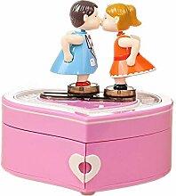 ZhongYi Kreative Kissing Paar Tanz-Musik-Box