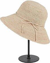 Zhou Yunshan Frühling und Sommer-Sonnenschutz, Sonnenhut groß Entlang Dem Hut, faltend, Färben Beige.