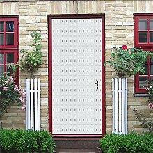Zhoudd Türtapete Tür Einfaches Muster Kreative