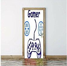 Zhoudd Türtapete Tür Gamer Kreative