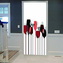Zhoudd Türtapete Tür Kunst Weinglas Kreative