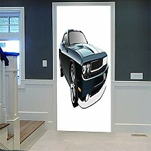 Zhoudd Türtapete Tür Retro Auto Kreative