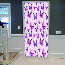 Zhoudd Türtapete Tür Schöner Schmetterling
