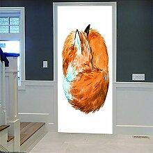 Zhoudd Türtapete Tür Tierfuchs Kreative