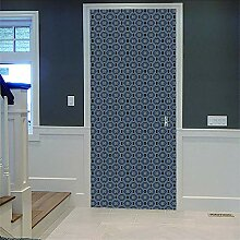 Zhoudd Türtapete Tür Vintage grau Kreative
