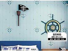 ZHOUKEYU Mediterrane blaue Segelboot Tapete rohe