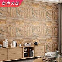 ZHOUKEYU Vintage Holzmaserung Log Farbe Tapete