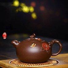 Zhouyanjun Teekanne aus Ton mit Schmetterlingen,