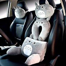 zhpjjlyhtq Auto Nackenkissen Chinchilla Kopfstütze bandscheibenstütze Kissen u-förmiges Kissen 3-teilig Großhandel Autositz anime, U Kissen 32 X 32 X 10 cm