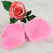 ZHQIC 2 STÜCKE/Set Blütenblatt Blatt Rose Form