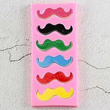 ZHQIC Boy Man Moustache Fondant Kuchenformen