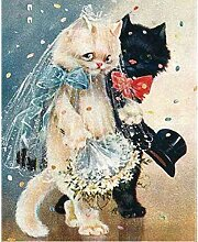zhqingyu 5d Berühmte Gemälde Katzen