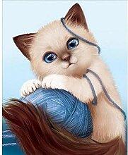 zhqingyu 5d berühmte Gemälde von Katzen und