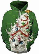 ZHRUI Beiläufige Nette WeihnachtsHoody