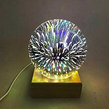 zhtao Buntes Kristallglas-Abdeckungs-Nachtlicht 3D