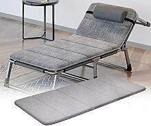 ZHUAN Verdicken Sie Folding Chaise Liege Bank