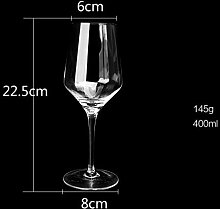 ZHUANGSHI Bleifreies Glas Rotwein Glas Weinkelch