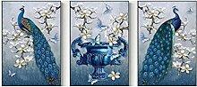 ZHUANGSHIHUA Moderne Leinwand Malerei Druck Blauer