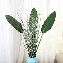 ZHUDJ Grün-Shik Schnee Willow Blätter Home Decor