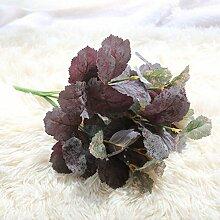 ZHUDJ Grüner Baum Pflanzen 7 und Mulberry Blatt